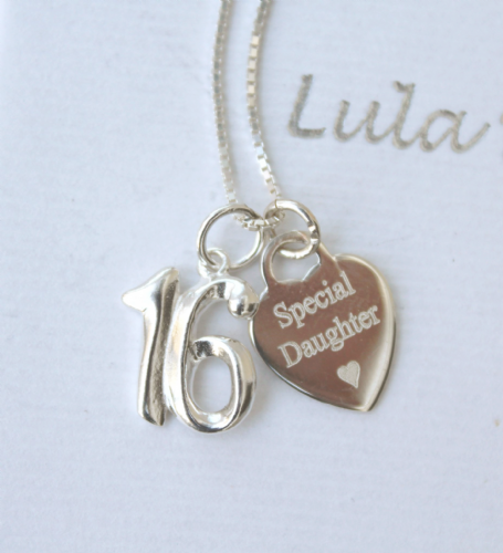 16th birthday silver jewellery  gift for a daughter - FREE ENGRAVING